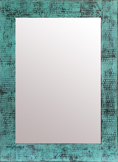 green color copper mirror