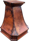 "30"" copper range hood side view"