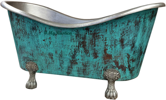 clawfoot copper bathtub