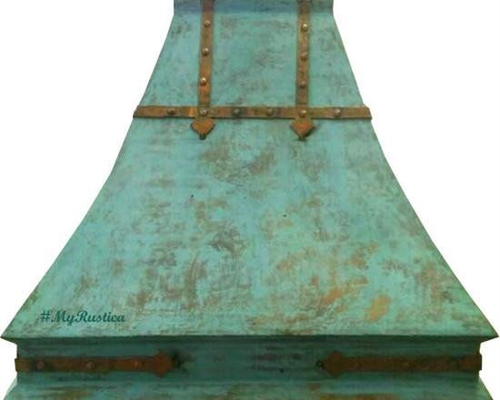 colored copper range hood