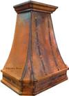copper range hood side view