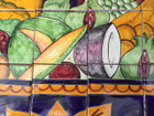 Fruits and Bowl Mural painting details