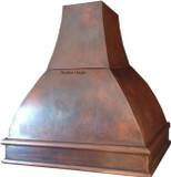 hammered copper stove hood