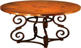 hand made copper table