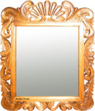 colonial hacienda wood mirror