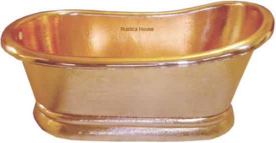 polished copper tub