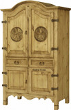 mexican four door armoire