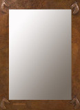 rectangular copper mirror