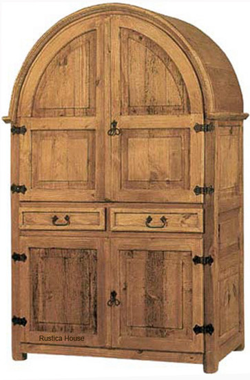 Charmant Mexican Rustic Wooden Armoire
