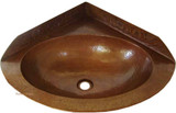 Corner Copper Sink