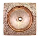 moroccan copper bath sink