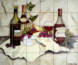 Hand Painted Wall Tile Mural