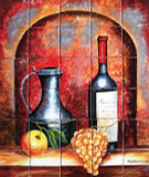 Hand Painted Kitchen Wall Tile Mural