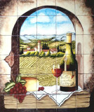 Hand Painted Kitchen Bath Tile Mural