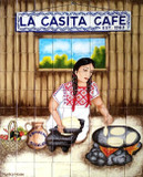 La casita cafe Kitchen tile mural