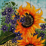 sunflowers wall tile mural