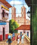 Taxco Kitchen backsplash tile mural