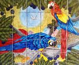 birds wall tile mural