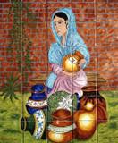 pots selling kitchen tile mural