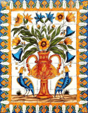 beautiful vase kitchen tile mural