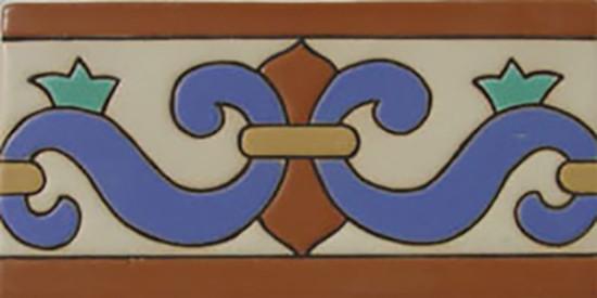 European Relief Tiles - Curved tile border