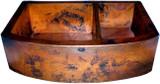colonial copper kitchen apron sink
