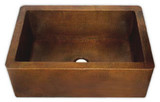 colonial apron copper kitchen sink