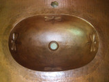 copper sink with bath counter