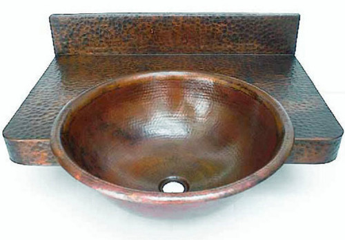 Hammered Copper Bath Counter