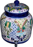 talavera old European water crock