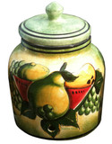 talavera pear water crock