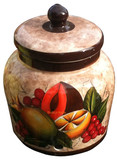 talavera peach water crock