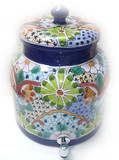 talavera hand made water crock