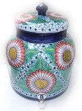 talavera sunflower terracotta water crock