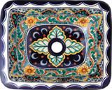 rectangular talavera sink handmade