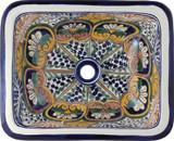 rectangular talavera sink hand crafted