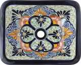 rectangular talavera sink traditional