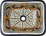 rectangular talavera sink Rustic