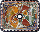 rectangular talavera sink contemporary