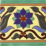 french relief tile blue