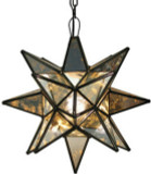 clear stained glass star lamp