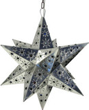 mediterranean tin star lamp