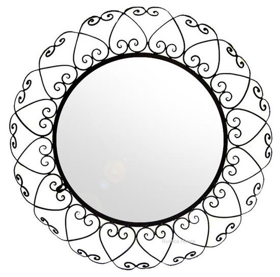 round forged iron mirror
