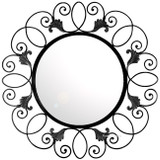 round hand forged iron mirror 025