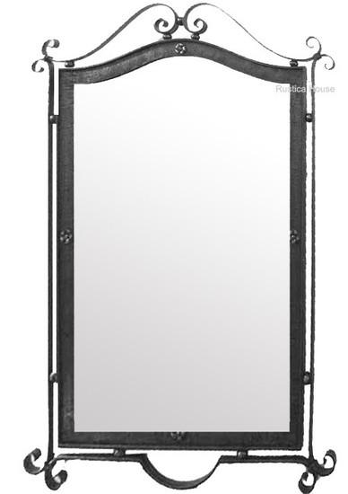 decorative iron mirror