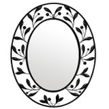 oval wrought iron mirror 012