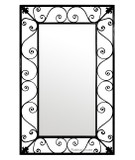 rectangular designer iron mirror 013