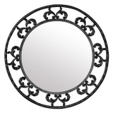round forged iron mirror 009