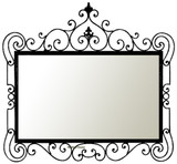 rectangular decorative iron mirror 008