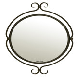 colonial oval iron mirror